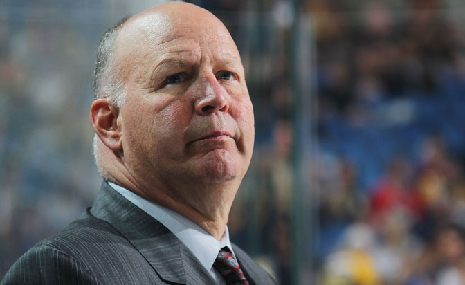 Claude Julien meets with the media following a 2-0 loss to the Blues