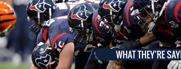 From the Texans locker room: Patriots