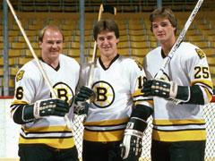 Rick Middleton, Barry Pederson, and Mike Krushelnyski.