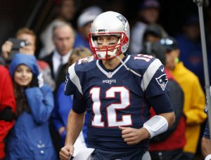 Oct 30, 2016; Orchard Park, NY, USA; New England Patriots quarterback Tom Brady (12) takes the field before a game against the Buffalo Bills at New Era Field. Mandatory Credit: Timothy T. Ludwig-USA TODAY Sports