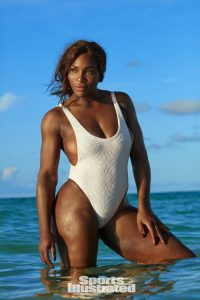 """Mandatory photo credit: TK Photographer/SPORTS ILLUSTRATED - Caption must include """"On sale February 15 (for placements after February 15, must say """"On sale now."""") - All international photo use must come through SI Content Management: Karen_Carpenter@timeinc.com and Prem_Kalliat@timeinc.com. Swimsuit: 2017 Issue: Portrait of Serena Williams during photo shoot. Turks & Caicos Islands 9/16/2016 CREDIT: Emmanuelle Hauguel"""