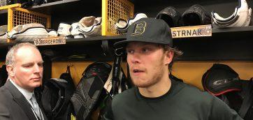 Bruins locker room interviews following loss to TB