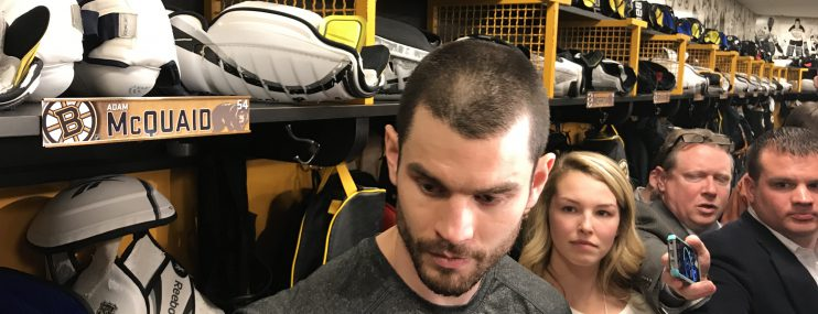 Adam McQuaid presser following win over Stars