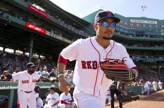 Bogaerts out of the lineup tonight; having MRI on his hand