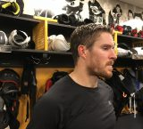 Kevan Miller is pleased with the defensive effort Bruins showed against Sharks