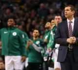 Kyrie Irving and Brad Stevens meet with the media following an embarrassing loss to the Cavs