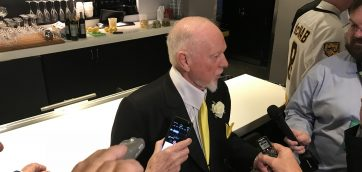 Don Cherry pontificates on all matters 77-78 Bruins