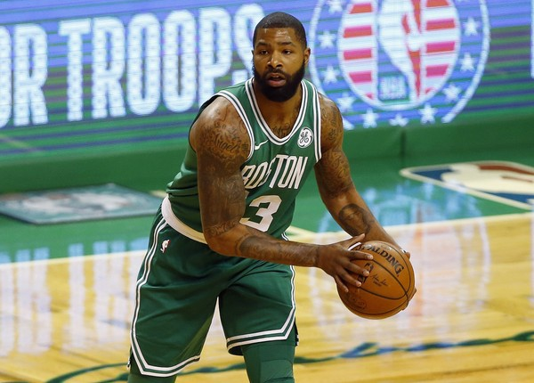 Marcus Morris updates the media on his condition following his fall during the Knicks game