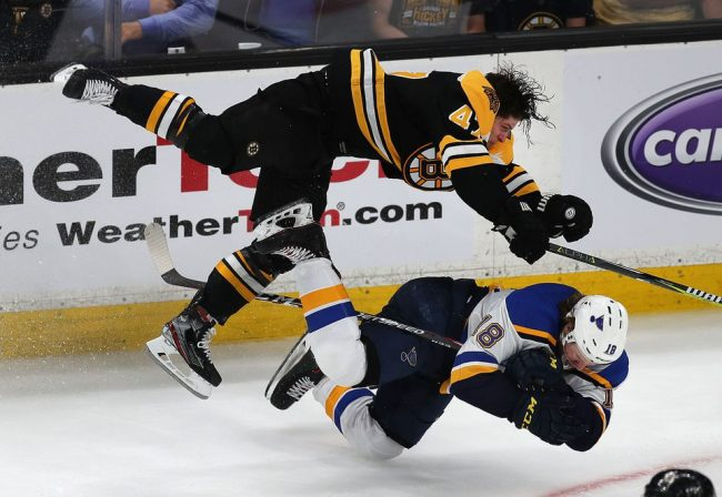 The Bruins didn't just beat the Blues in Game 1, they beat them down
