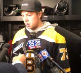 Charlie McAvoy at Bruins Media Day presser