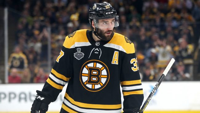 Patrice Bergeron following loss to Bolts