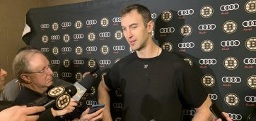 Chara not happy with the way B's played in the second half of the game