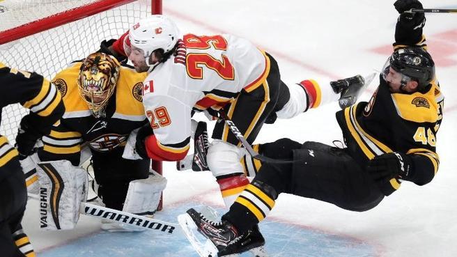 Bruins Fall To Calgary Ending Rask's Impressive Run